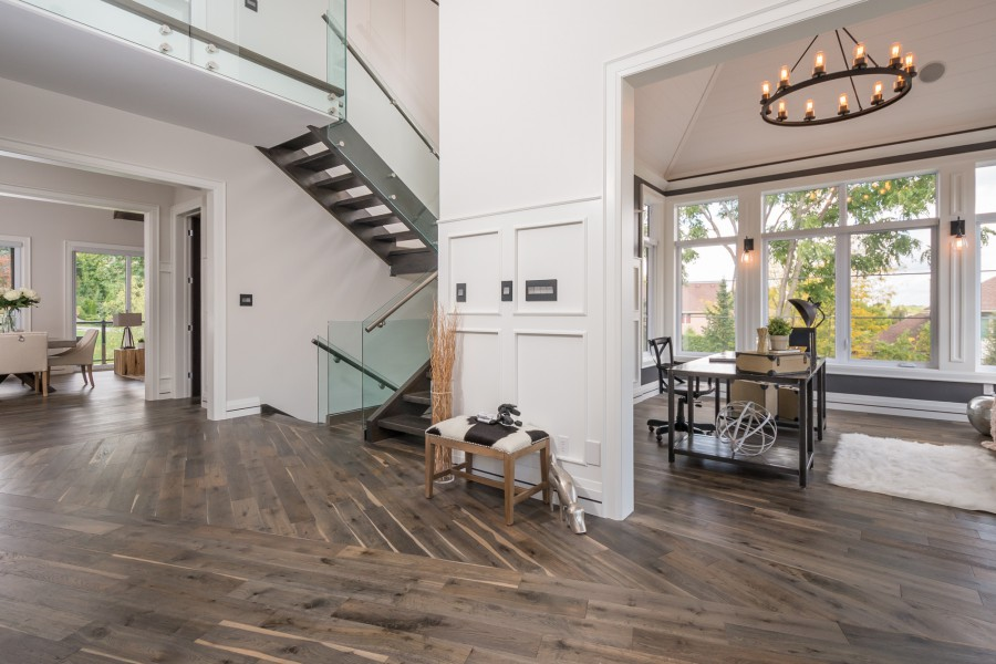 Entrance Of The 2014 Dream Home In London, ON With Flooring By Great Floors
