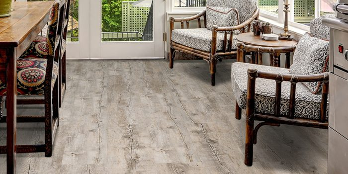 Twelve Oaks Looselay Luxury Vinyl Plank (Beachhouse) Sunroom