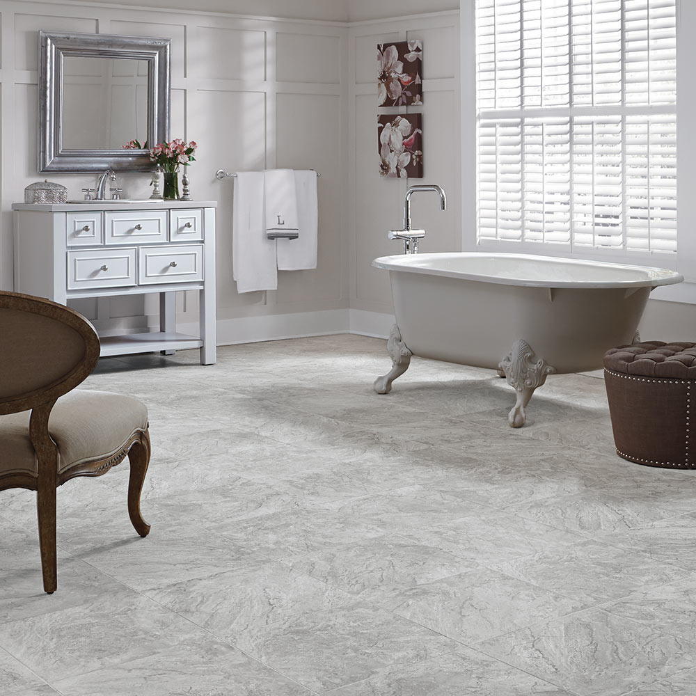Adura Century Luxury Vinyl Tile and Plank in Pumice by Mannington at Great Floors Canada