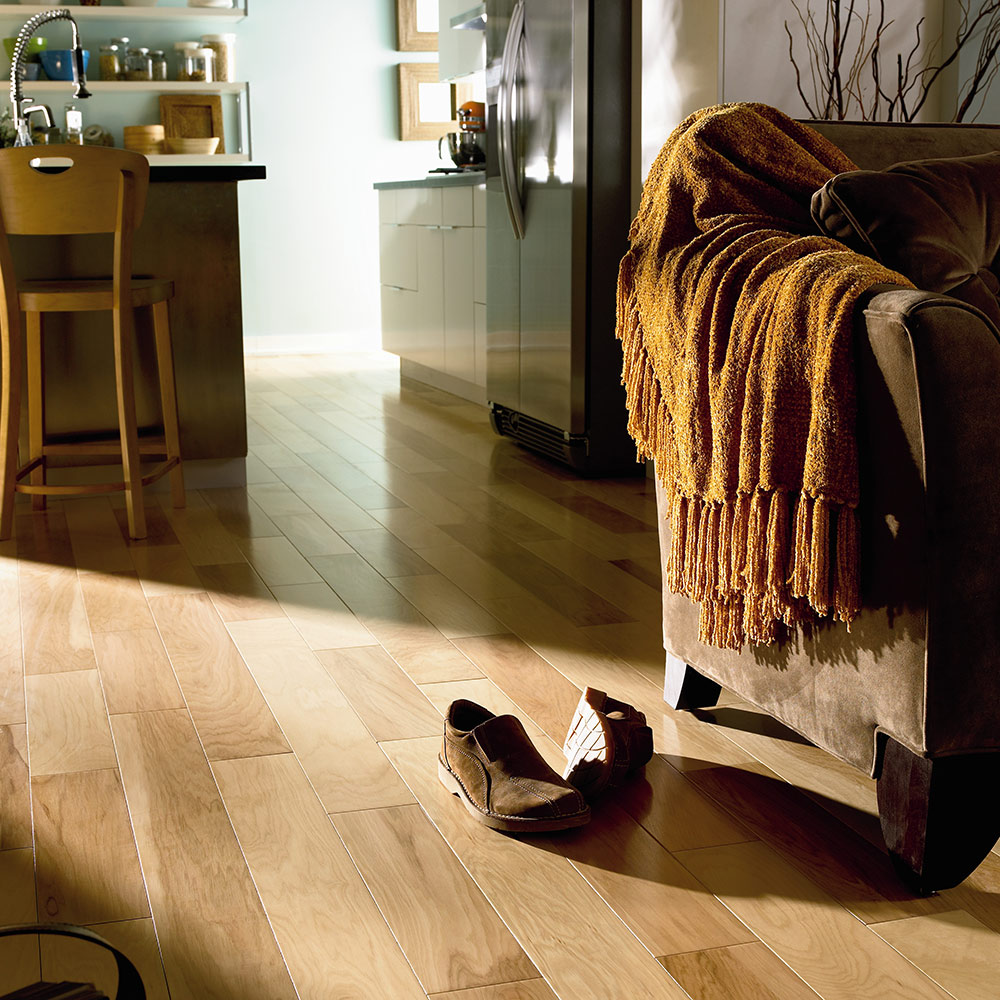 Mannington Hardwood American Hickory in Natural at Great Floors