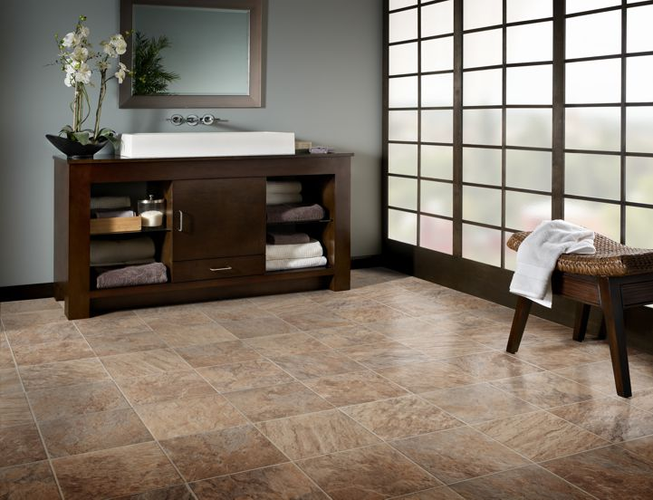 Kasbah Vinyl Flooring in Wet Sand by Mannington at Great Floors Canada