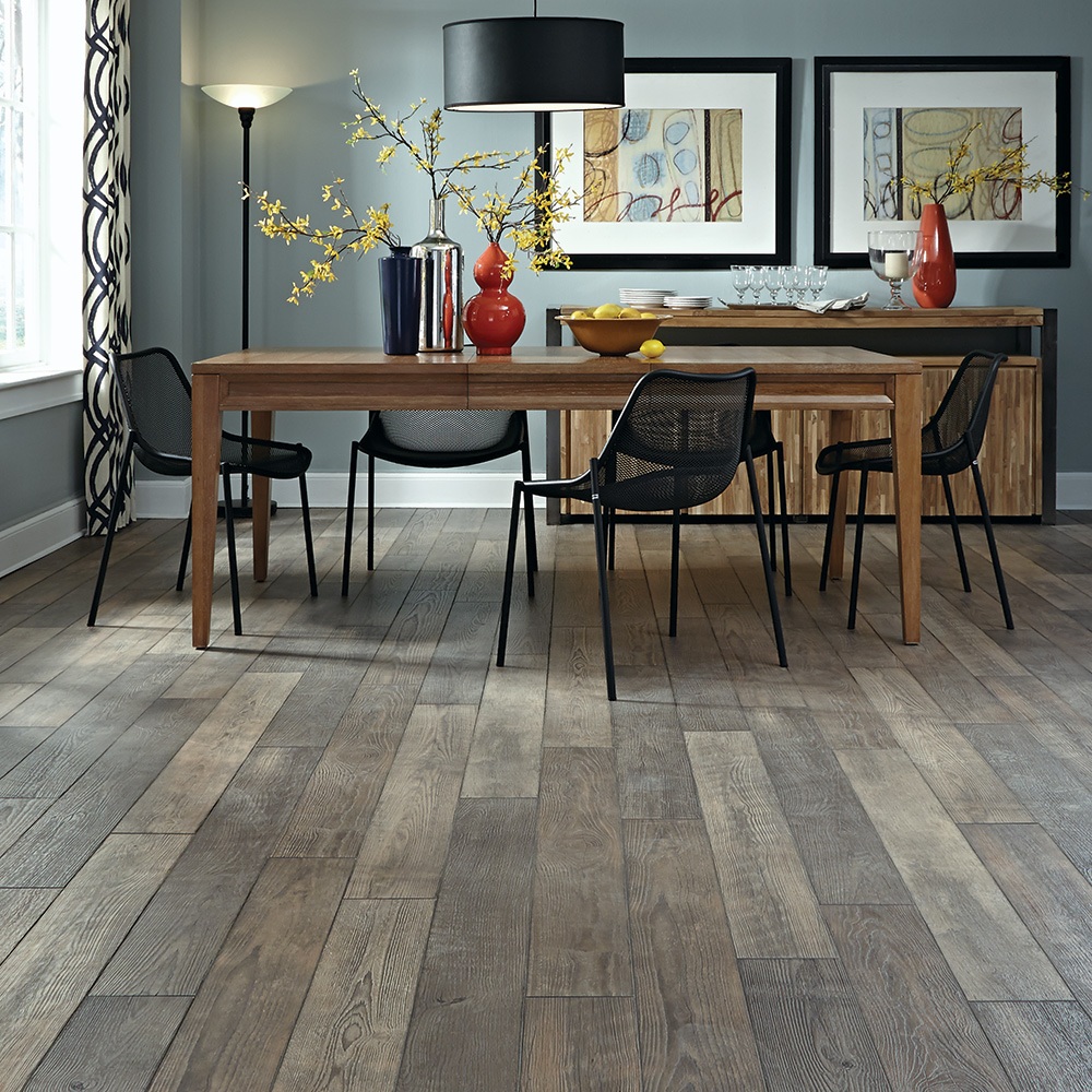 Treeline Oak Laminate Plank in Winter by Mannington at Great Floors Canada