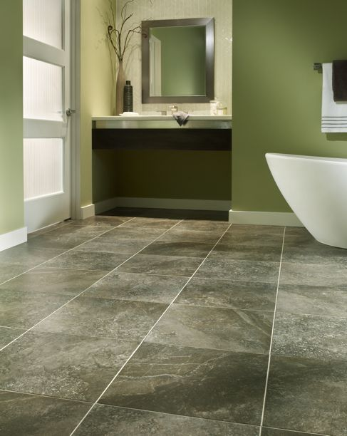 Mannington's Athena Luxury Vinyl Tiles in Grecian Grey | Adura Luxury Vinyl at Great Floors Canada