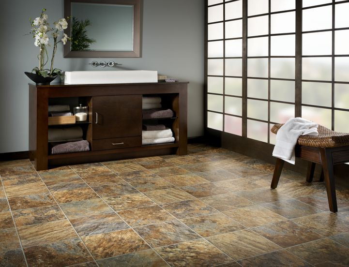 Kasbah Vinyl Flooring in River Rock by Mannington at Great Floors Canada