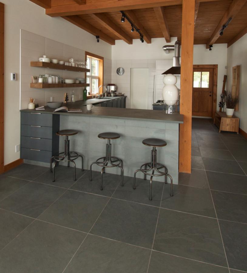 Ardoise du Bresil Slate & Stone Tile by Ceragres in Montauk Grey at Great Floors