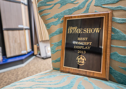 Great Floors Strathroy Home Show Award