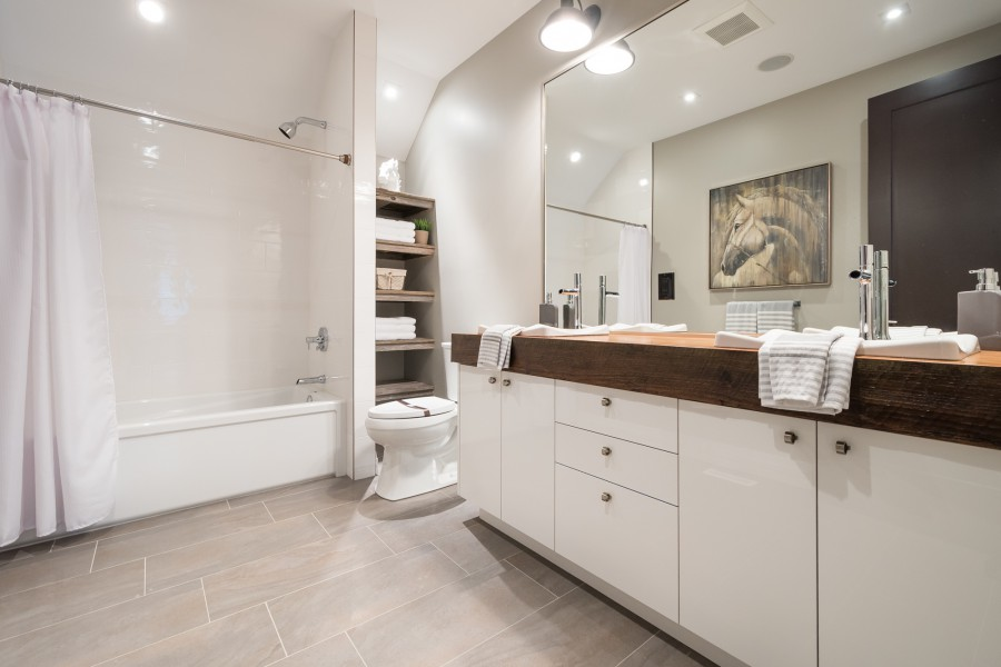 An upstairs bathroom of the 2014 Dream Home in London, ON
