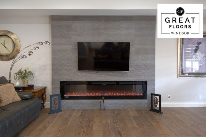 Oxford Street Feature Wall Tile Fireplace by Beckham Brothers - McQueen