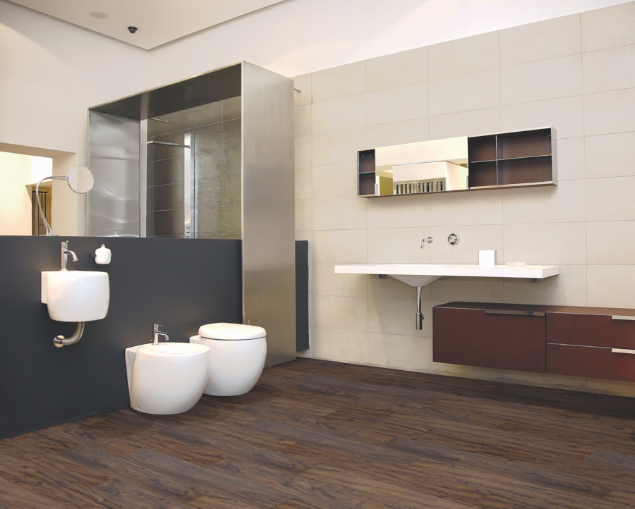 Bathroom featuring Beaulieu Zone LVP