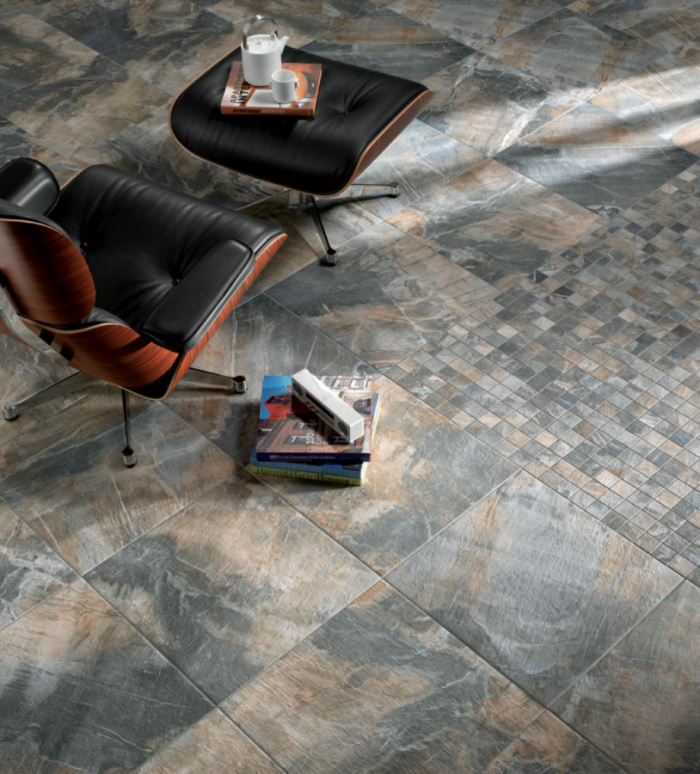 Fossil Stone Porcelain Floor by Ceragres in Blue | Eco Flooring from Great Floors Canada