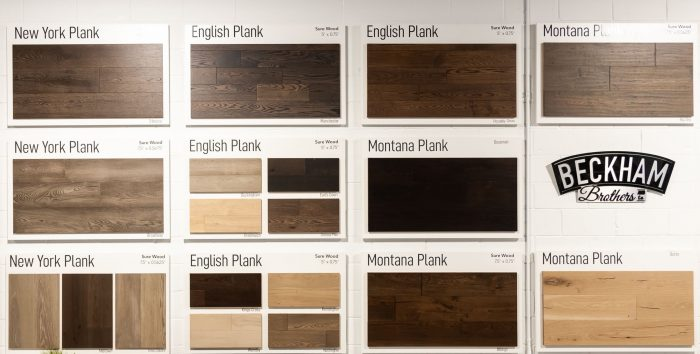 Great Floors Beckham Brothers Hardwood Display