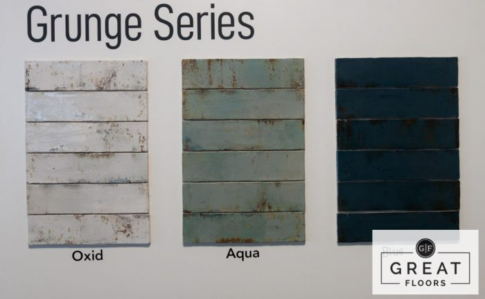 Grunge Series Wall Tile Display at a Great Floors store