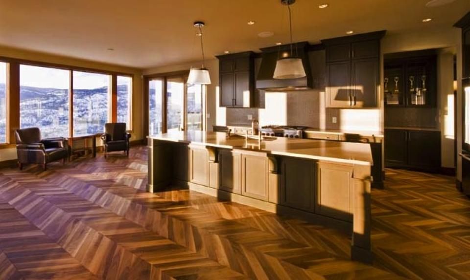 Kentwood Couture Collection Chevron Herringbone Walnut in Natural