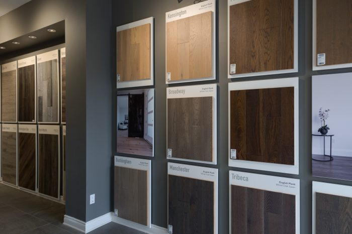 Beckham Brothers Hardwood Flooring Display