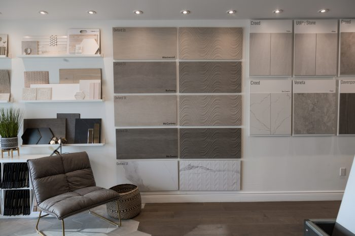 Beckham Brothers Feature Tile and Floor Tile Display