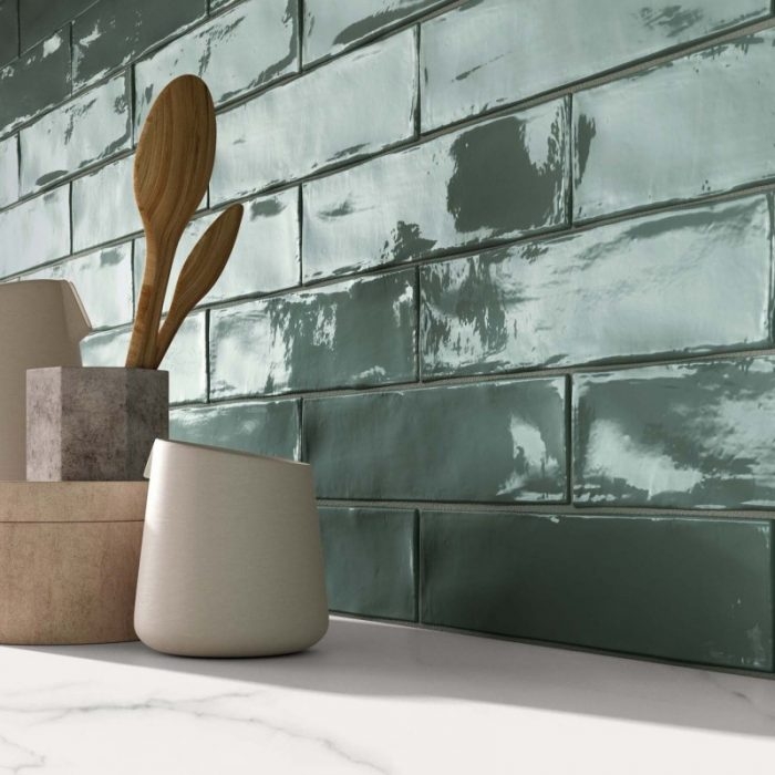 Kitchen: Midgely Tenica Crossroad Brick Sage Wall Tile