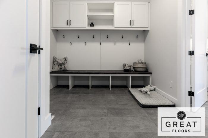 Mud Room: Nexus Anatolio Mica Tile- A Great Floors Project (London, Ontario)