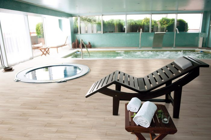 Beaulieu Flooring Expression Luxury Vinyl Plank (Hudson Oak) Indoor Pool