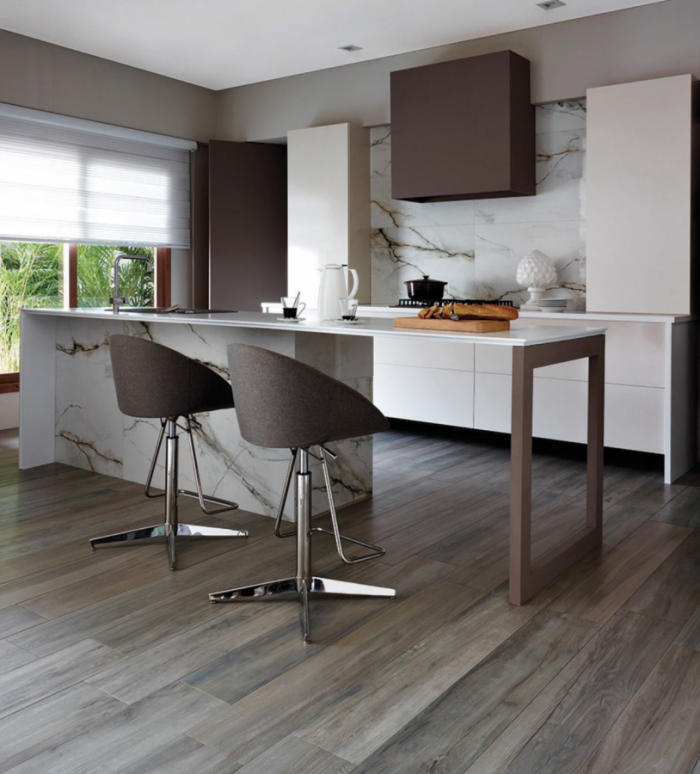 Ecollection Porcelain Flooring by Ceragres in Teca Intensa Eco-Friendly Flooring at Great Floors Canada