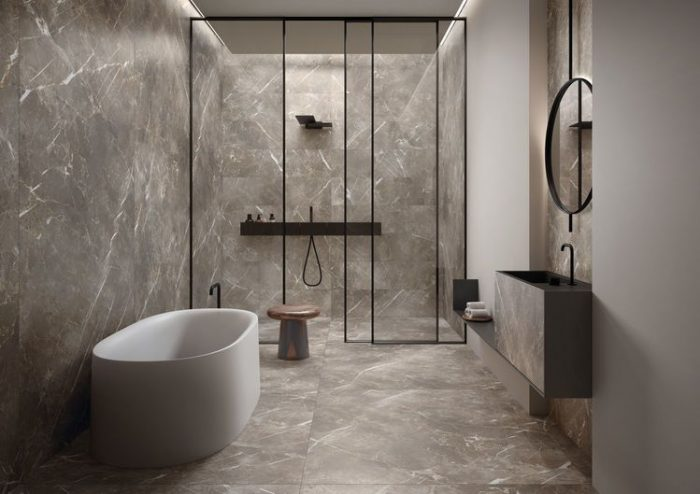 Bathroom: Midgely Tenica Eclectic Floor and Wall Tile