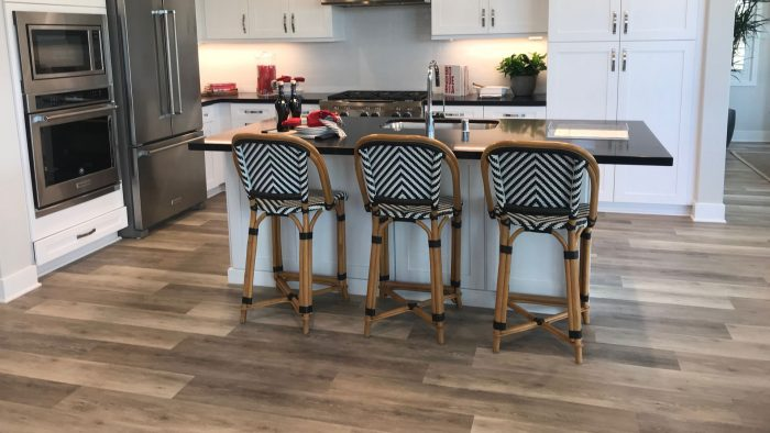 Provenza Floors Maxcore Concorde Oak Luxury Vinyl Plank (Grateful Grey) Kitchen