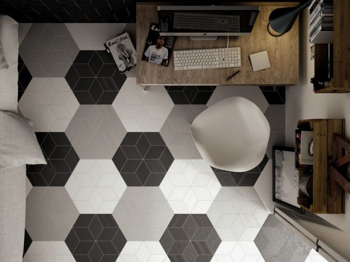Office: Urban Zebra Rhombus Cenital (Diamond Floor Tile)
